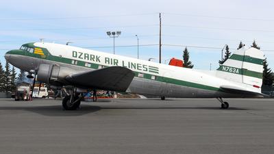 N763A - Douglas DC-3 - Ozark Air Lines