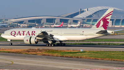 A picture of A7BBA - Boeing 7772DZ(LR) - Qatar Airways - © songxiuming