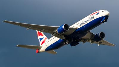 A picture of GYMMP - Boeing 777236(ER) - British Airways - © Nick Sheeder
