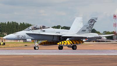 CE.15-01 - McDonnell Douglas EF-18B+ Hornet - Spain - Air Force