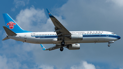 A picture of B1408 - Boeing 73781B - China Southern Airlines - © xuhaoqing995
