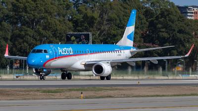 A picture of LVCHQ - Embraer E190AR - Aerolineas Argentinas - © dario_spotter