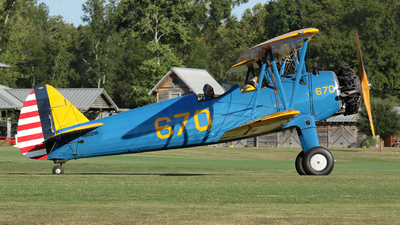 N60216 - Boeing A75N1 Stearman - Private