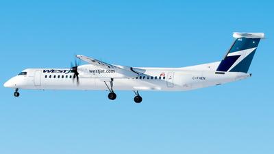 A picture of CFHEN - De Havilland Canada Dash 8400 - WestJet - © Derek MacPherson