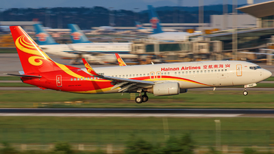 A picture of B5580 - Boeing 73784P - Hainan Airlines - © Liu Zihao
