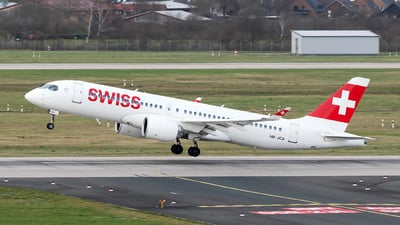 A picture of HBJCA - Airbus A220300 - Swiss - © Sebastian Thiel