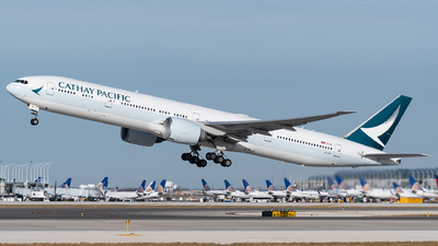 A picture of BKPI - Boeing 777367(ER) - Cathay Pacific - © bill wang