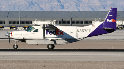 A picture of N857FE - Cessna 208B Super Cargomaster - FedEx - © DJ Reed - OPShots Photo Team