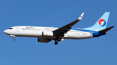 A picture of B5459 - Boeing 73785C - Hebei Airlines - © nibrage