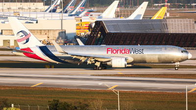 N422LA - Boeing 767-346F(ER) - Florida West International Airways