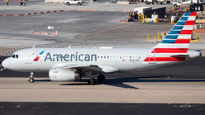 N833AW - Airbus A319-132 - American Airlines