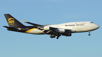 A picture of N579UP - Boeing 74745E(BCF) - UPS Airlines - © S. Eckhardt