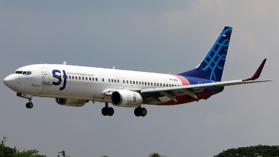PK-CMQ - Boeing 737-8BK - Sriwijaya Air