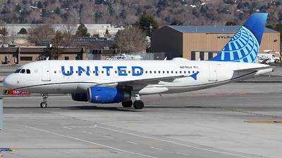 A picture of N876UA - Airbus A319132 - United Airlines - © Nate Morin