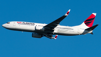 A picture of TCJZG - Boeing 7378F2 - Air Albania - © Matei Dascalu - RomeAviationSpotters
