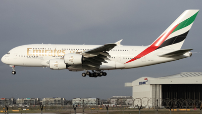 A picture of A6EVG - Airbus A380842 - Emirates - © subing27