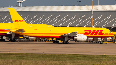 A picture of GDHKE - Boeing 75723N(PCF) - DHL - © James Dinsdale