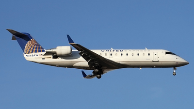 A picture of N448AW - Mitsubishi CRJ200LR - United Airlines - © Philipp Schuetz