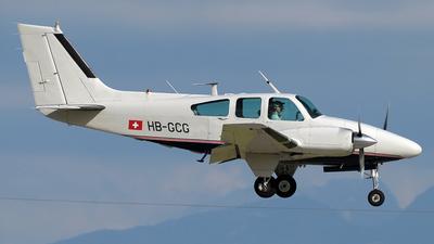 A picture of HBGCG - Beech 9555 Baron - [TC76] - © Paul Denton