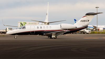 N881CW - Cessna 525 Citationjet CJ4 - Private
