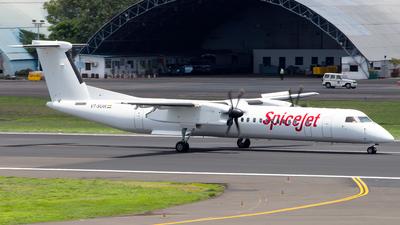 A picture of VTSUW - De Havilland Canada Dash 8400 - SpiceJet - © Janam Parikh