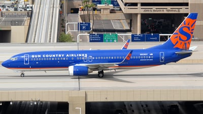 A picture of N808SY - Boeing 7378BK - Sun Country Airlines - © Jason Whitebird