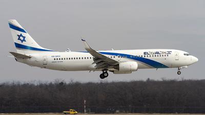 A picture of 4XEKU - Boeing 7378Z9 - El Al - © AvA