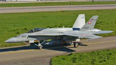 J-5022 - McDonnell Douglas F/A-18C Hornet - Switzerland - Air Force