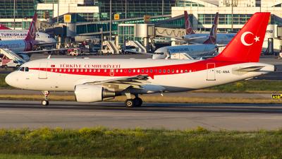 TC-ANA - Airbus A319-115(CJ) - Turkey - Government