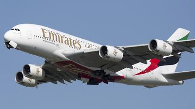 A picture of A6EUV - Airbus A380842 - Emirates - © Akbarali Mastan