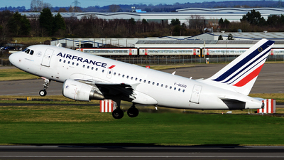 A picture of FGUGQ - Airbus A318111 - Air France - © tianqi yao