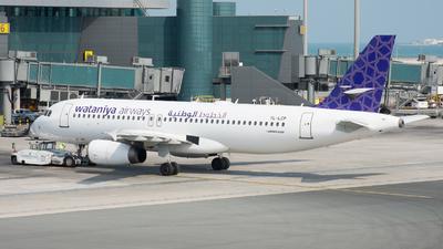 YL-LCP - Airbus A320-232 - Wataniya Airways
