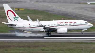 A picture of CNRNV - Boeing 7377B6 - Royal Air Maroc - © DN280