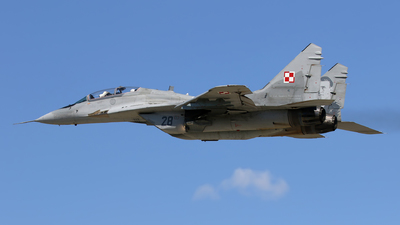 28 - Mikoyan-Gurevich MiG-29UB Fulcrum - Poland - Air Force