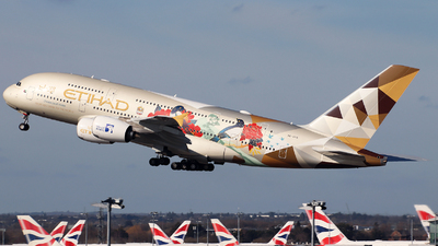 A picture of A6APG - Airbus A380861 - Etihad Airways - © n94504