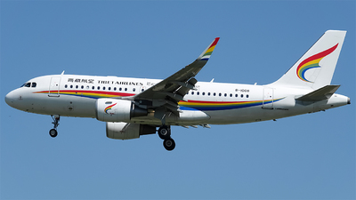 A picture of B1008 - Airbus A319115 - Tibet Airlines - © aegithalidae