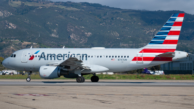 A picture of N747UW - Airbus A319112 - American Airlines - © Beck Ramsey