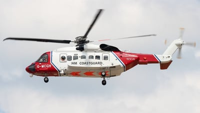 G-MCGH - Sikorsky S-92 Helibus - United Kingdom - Coast Guard