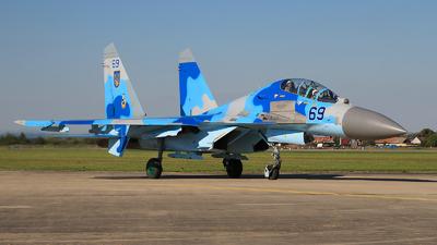 69 - Sukhoi Su-27UB Flanker C - Ukraine - Air Force