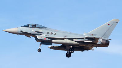 31-12 - Eurofighter Typhoon EF2000 - Germany - Air Force