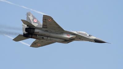 70 - Mikoyan-Gurevich MiG-29A Fulcrum - Poland - Air Force