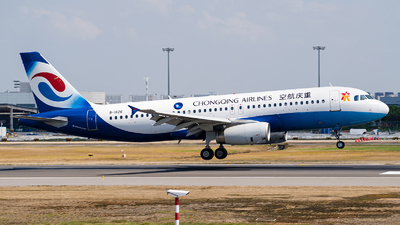 A picture of B1826 - Airbus A320232 - Chongqing Airlines - © Deutsch lighting II