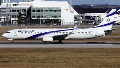 A picture of 4XEHC - Boeing 737958(ER) - El Al - © Domi Einert