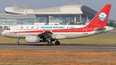 A picture of B6406 - Airbus A319133 - Sichuan Airlines - © Eric Wang