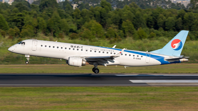 A picture of B3383 - Embraer E190LR - Hebei Airlines - © yajoo
