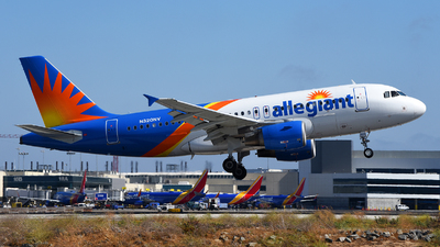 A picture of N320NV - Airbus A319111 - Allegiant Air - © Rocky Wang