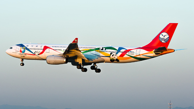 A picture of B5945 - Airbus A330343 - Sichuan Airlines - © Song Yingqi