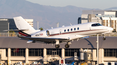 A picture of N567QS - Cessna 680A Citation Latitude - NetJets - © Alex Crail