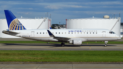 A picture of N752YX - Embraer E175LR - United Airlines - © Evan Dougherty