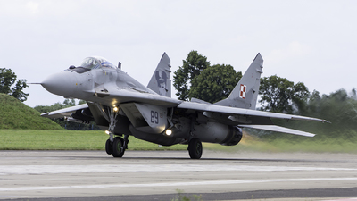 89 - Mikoyan-Gurevich MiG-29A Fulcrum A - Poland - Air Force